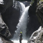 Wasserfall Canyoning in Italien